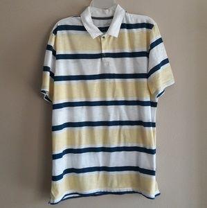 Banana Republic Mens SIze XL Striped Polo Shirt